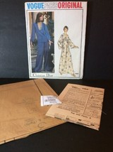 Vogue Paris Sewing Pattern Vtg 1064 Christian Dior Loungewear Pajamas Un... - $48.03