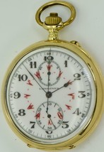 Museum 18k Oro Longines Grand-Prix Cronometro Cronografo Watch.ottoman/E... - $10,547.34