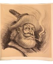 """Newton Heisley Signed Original Pencil Drawing """"Mountain Man""""  POW/MIA Fl... - $9,500.00"""