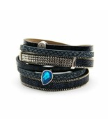 Bracelet NEW Arrive Leather For Women In2 Colors With Water Drop Charm B... - $7.06