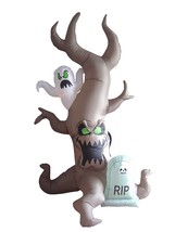 8 Foot Halloween LED Inflatable Grave Scene with Ghost Tombstone Yard De... - $95.00
