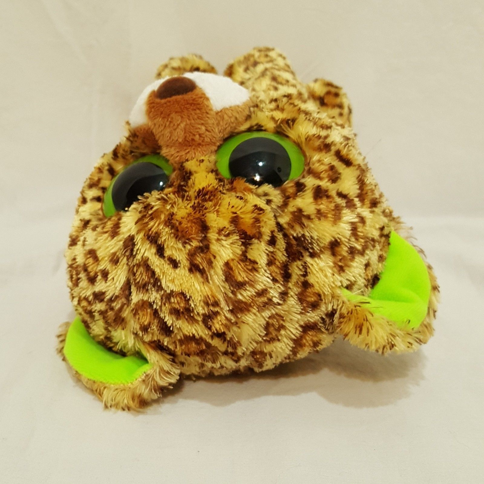 "Speckles Leopard Plush Stuffed Animal 9"" Ty Beanie Boos 2012 Large Eyes"