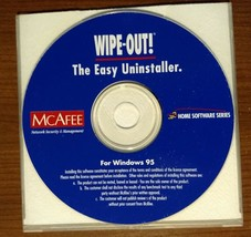 Wipe-Out! The Easy Uninstaller from McAfee - Fast Shipping - $0.98