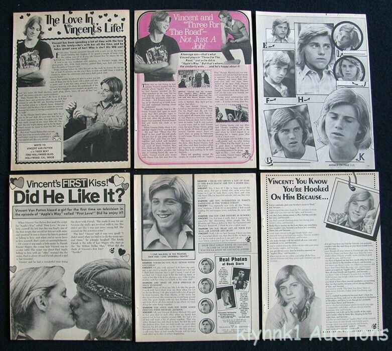 Vincent Van Patten 6 Full page Magazine Clippings 1970s V430