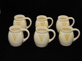 Robinson Ransbottom Pottery Co RRPCO Roseville Cream & Yellow Mugs Cups ... - $148.49