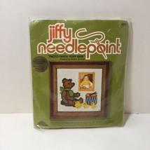 "Photo Frame Teddy Bear Needlepoint Kit Jiffy 5"" x 5"" - $8.79"