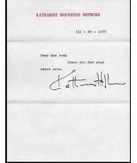 KATHARINE HEPBURN Signed letter, fine autograph, 1977 - $173.25