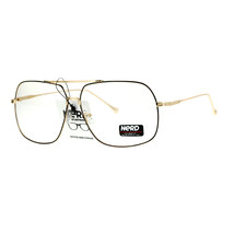 Clear Lens Eyeglasses Oversized Square Metal Vintage Driver Fashion - $9.85+