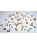 Large Lot Vintage Pearl Shoe Buttons - $14.99