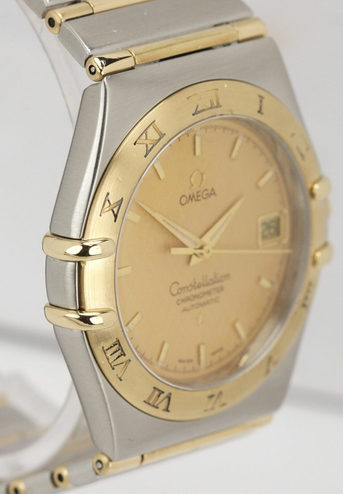 Omega Constellation Two-Tone 'Full Bar' Automatic 35.5mm Date Watch 1202.10.00