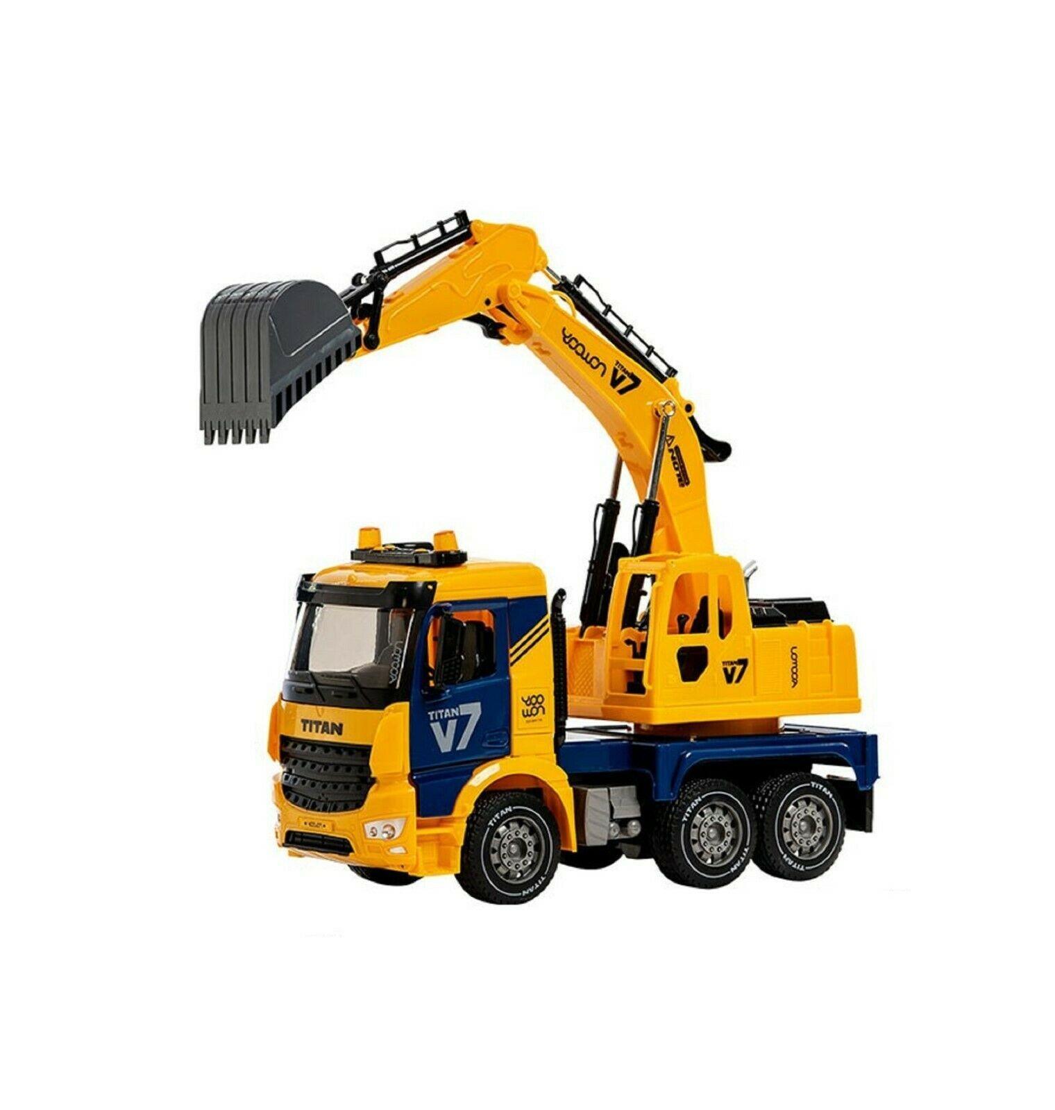 Yoowon Toys Titan Excavator Truck Sound Lights Vehicle Heavy Equipment Toy Car