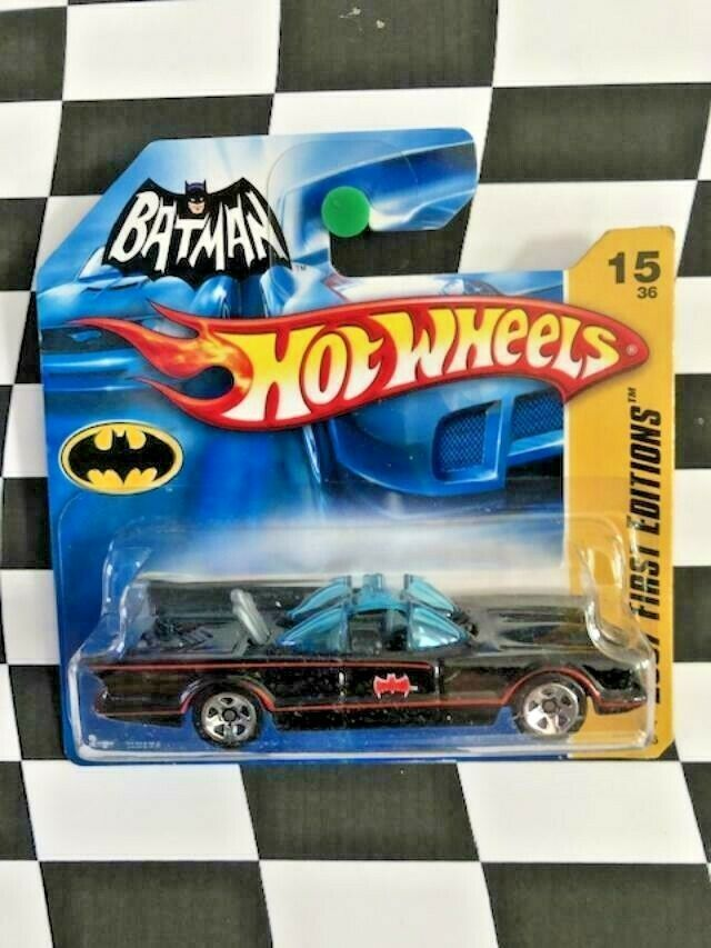 Hot Wheels 2007 New Models First Edition 015 1966 TV Series Batmobile Short Card
