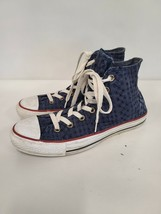 Converse All Star Womens Size 8 Navy Blue Eyelet High Top Sneakers 542539F  - $42.88