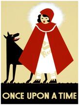 "18x24""Decoration CANVAS.Interior room design art.Red Riding hood Wolf.6454 - $59.40"