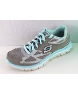 Skechers sport flex sole women's athletic walking casual gray green size 8 - $21.10
