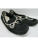 Cole Haan Driving Mocs Boat Shoe Loafer Women Black Suede Size 6 B - $37.83
