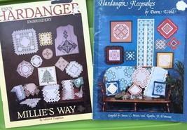 Hardanger Embroidery Keepsake Pattern Book Lot - Doily Runners Table Set... - $27.72