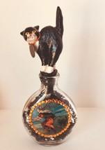 Halloween Witch Cat Bottle Crystals OOAK - €21,29 EUR