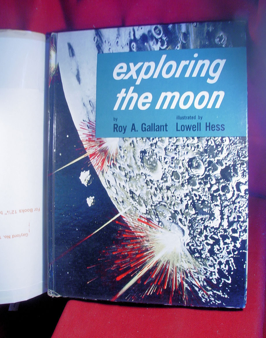Exploring the Moon by Roy Gallant 1955 first in dust jacket