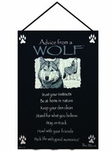 Manual Advice From a Wolf Woven X Your True Nature Wall Hanging, 17 X 26... - $25.67