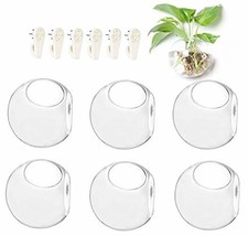 6-Pack Wall Hanging Planters Glass Terrariums - Round Air Plants Wall Co... - $33.99
