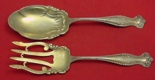 Primary image for Canterbury by Towle Sterling Silver Salad Serving Set 2pc GW Fancy 9 1/2""