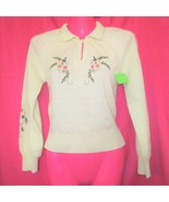 50s sweater beaded womens sweaters pin up clothing size extra small xs 2... - $64.99