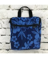L.L. Bean Blue Hawaiian Floral Travel Bag Organizer Multi Pocket Cosmeti... - $19.79