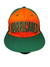 RARE Adidas Miami Hurricanes Canes Snapback Trucker Hat Green Orange Fas... - $44.10