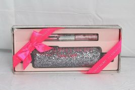 Victoria's Secret~Party Perfect~Noir Tease~EDP Rollerball+Lip Gloss+glitter case image 4