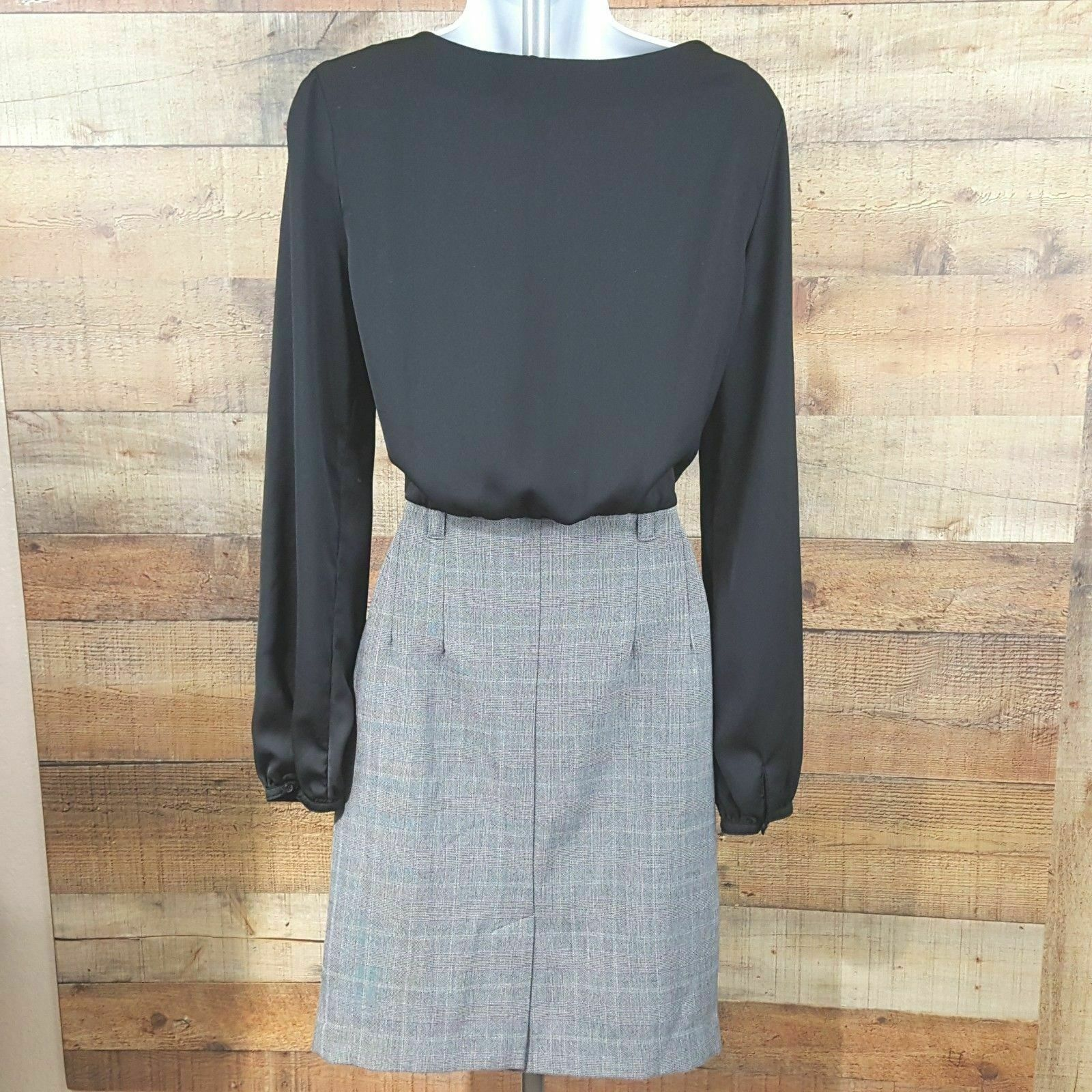 Forever 21 Essentials Dress Women's Size S Black Gray DB13 image 6