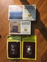 The House of Miniatures & Houseworks Lot of 4 Doll House Miniatures NEW! - $18.65