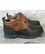 Ralph Lauren Polo Brown Hardy II Rugged Leather Lace-up Men's Duck Boots... - $51.43