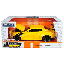 2016 Chevrolet Camaro Widebody Metallic Yellow with Black Stripes Big Ti... - $38.64