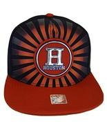Houston Men's Striped Cotton Patch Style Adjustable Snapback Baseball Ca... - $13.95