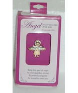 DM Merchandising Guardian Pin Angel Watching Over You Silver Gold Colored - $7.95
