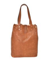 Women's Leather Boho Chic Purse Studded Expandable Lined Transport Tote Handbag image 10