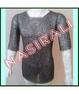 NauticalMart Flat Riveted With Washer Chain Mail Shirt Small Medieval Ch... - $299.00