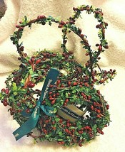 2 Smith & Hawken Hollyleaf Berry Garland Wrap 1 Wrapped Bolt 1 Unwrapped - $24.26