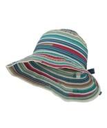 Woman's Polyester Ribbon Sewn Braid Bucket Shaped Hat - Blue OSFM - $37.23