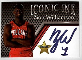 Zion Williamson Iconic Ink Facsimile Auto- Basketball Card - $9.85