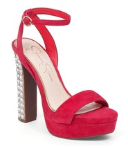 Women's Jessica Simpson Banda Sandals, Sizes 6-9 Pacifico Coral Suede JS... - $79.96