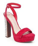 Women's Jessica Simpson Banda Sandals, Sizes 6-9 Pacifico Coral Suede JS... - $79.96