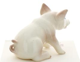 Hagen-Renaker Miniature Ceramic Pig Figurine White Mama Sitting image 3