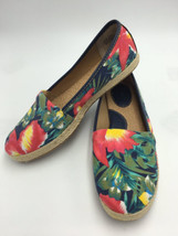 Born Concept BOC Womens 9 Tropical Floral Canvas Espadrille Shoes Flats ... - $19.99
