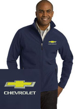 Chevrolet Navy Blue Embroidered Port Authority Core Soft Shell Unisex Ja... - $39.99