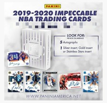 2019-20 Panini Impeccable Basketball Hobby Box - $1,224.99