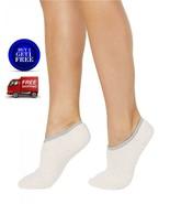 Charter Club Fuzzy Cozy Socks Grey Pink Liners - NWT - $6.83