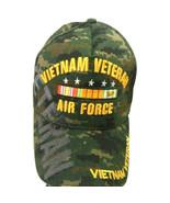 US Air Force Vietnam Veteran Hat Green Camo Adjustable Cap - $12.95