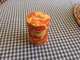 "NEW Teavana Tin holds Loose Leaf Tea Approx. 3.75"" h 2.5"" diam Orange or... - £6.11 GBP"
